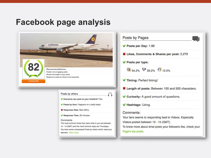 facebook page analysis example