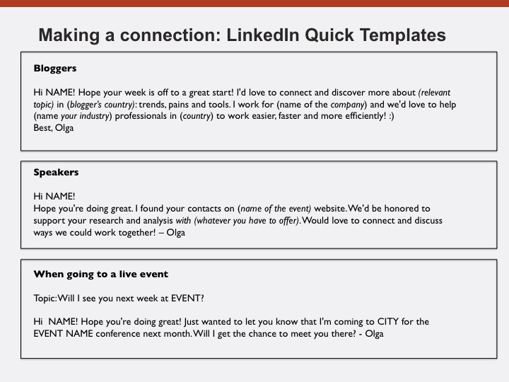 linkedin connection guide examples