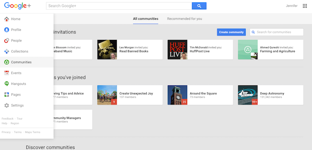 Create Google+ Community Old