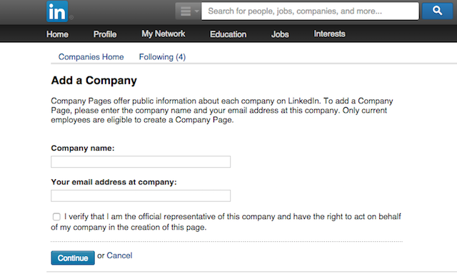 how to set up a company page in linkedin