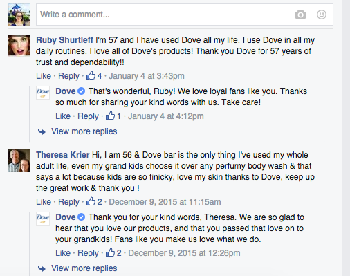 Dove Facebook Reach