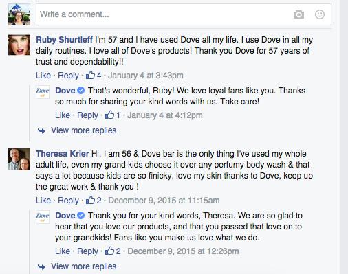 Dove Facebook Reach