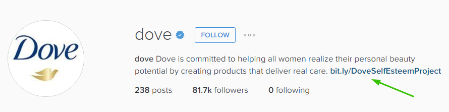 Dove Instagram Bio
