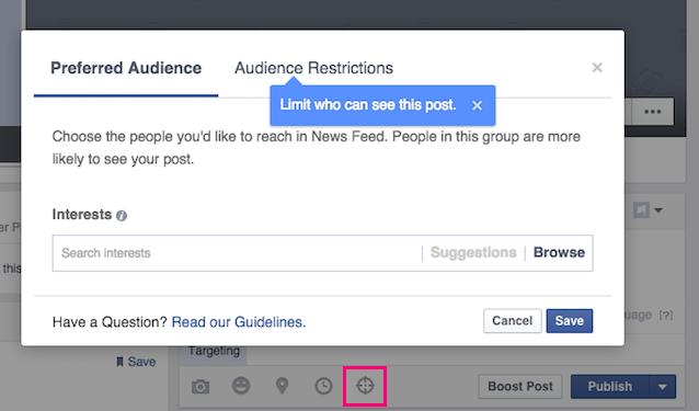 Facebook Organic Targeting
