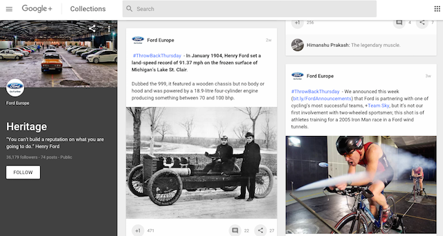 Ford Google+ Collection expanded