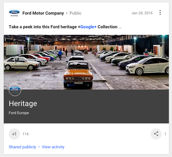 Ford Google+ Collection