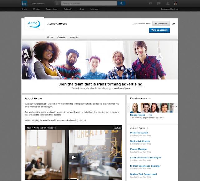 LinkedIn Company Page Careers