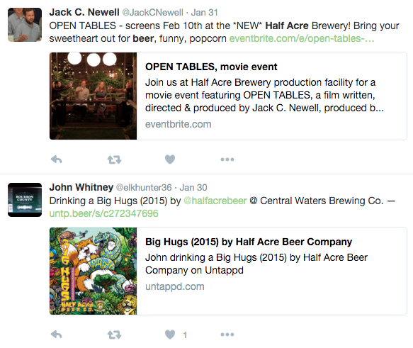 half acre beer advanced search
