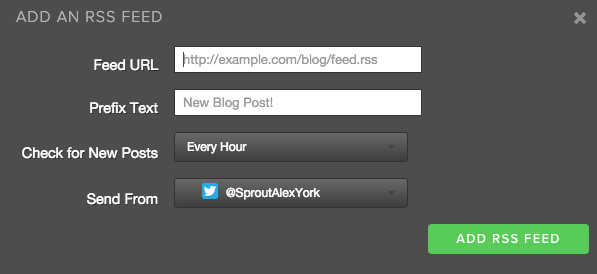 rss feed on sprout social