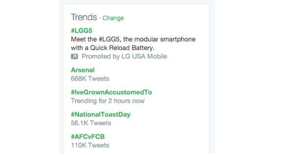 twitter trends sidebar example