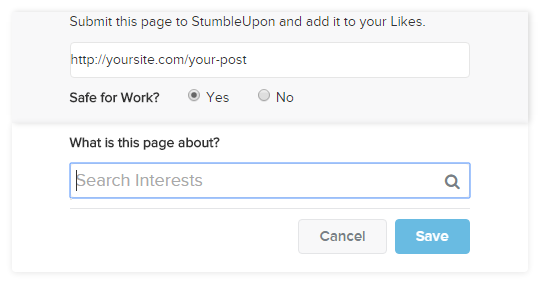Stumbleupon Step 2