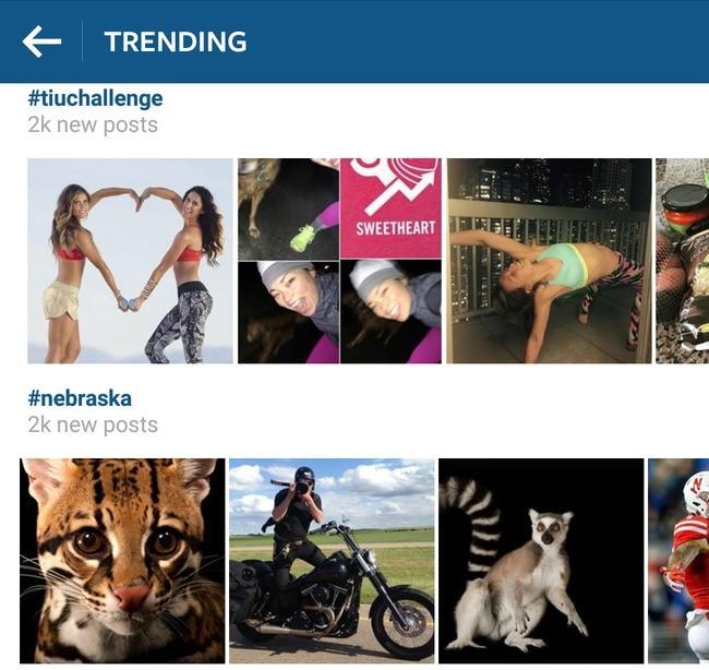 Trending instagram