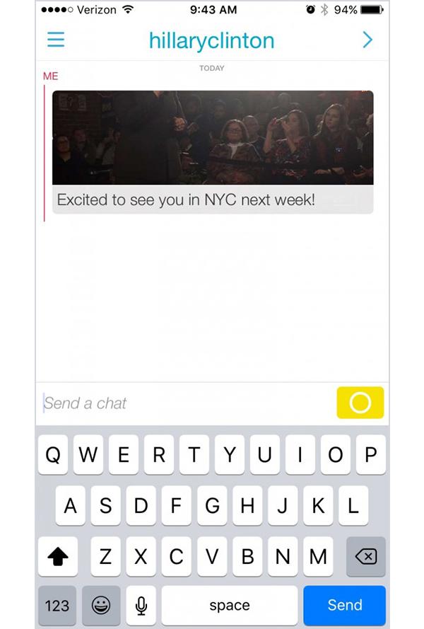 Hillary Clinton Snapchat