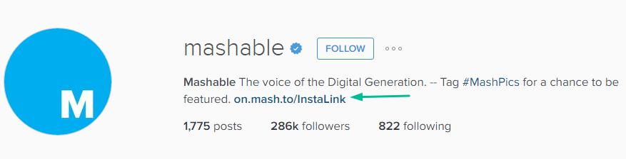 Dynamic Instagram Profile Link