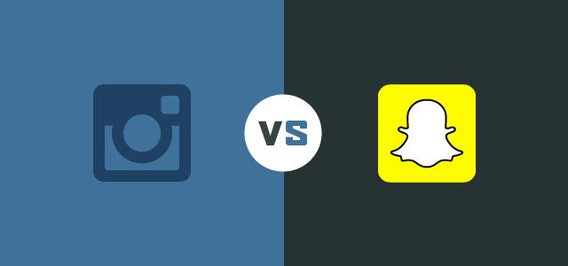 Instagram vs Snapchat header