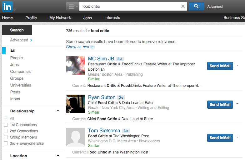 linkedin influencer search