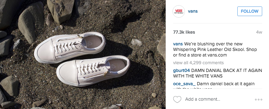 vans instagram example