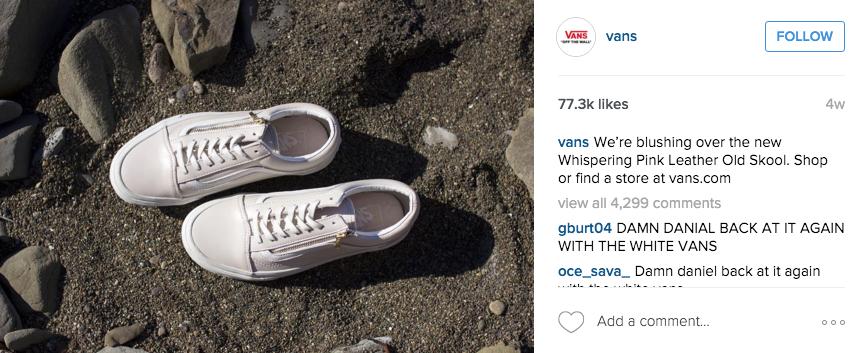 vans instagram example