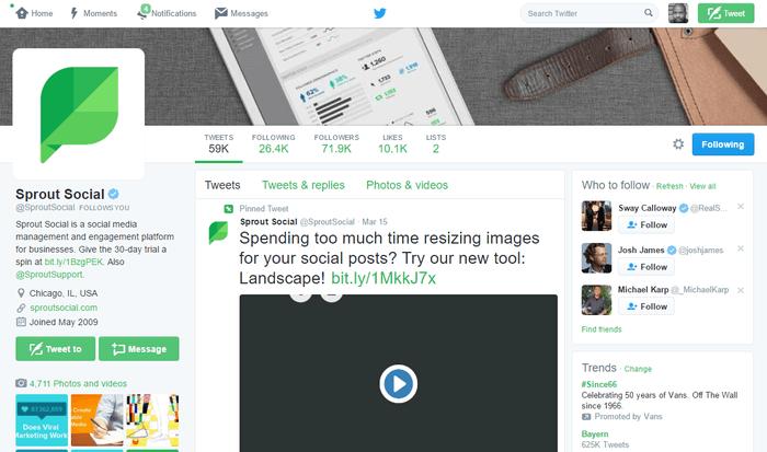 twitter desktop interface