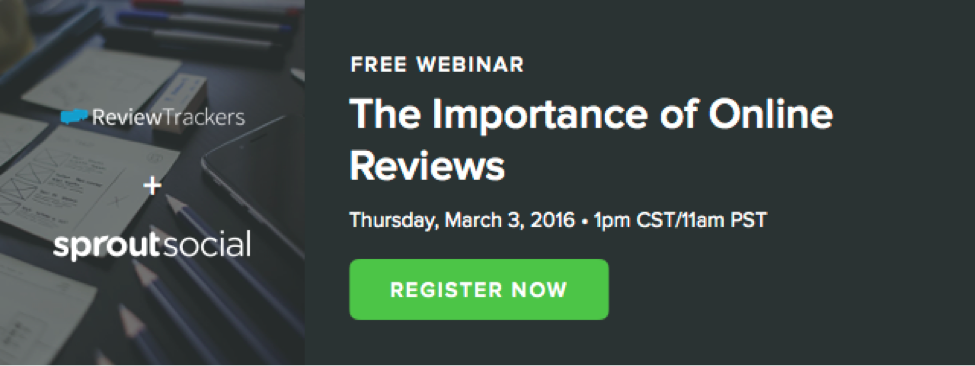 sprout social and reviewtrackers webinar call to action