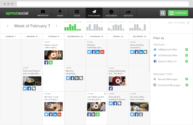 FB Video Publishing Calendar View