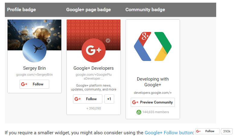 Google+ Social Media Buttons