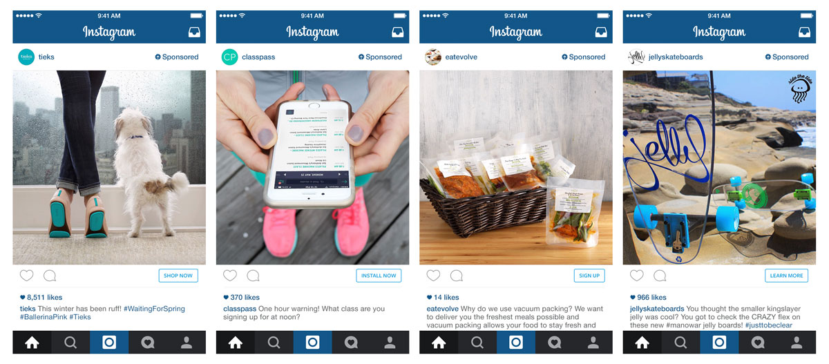 Instagram Ads Call to Action Buttons