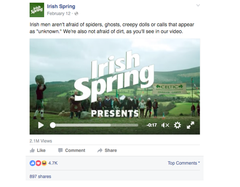 irish spring facebook example