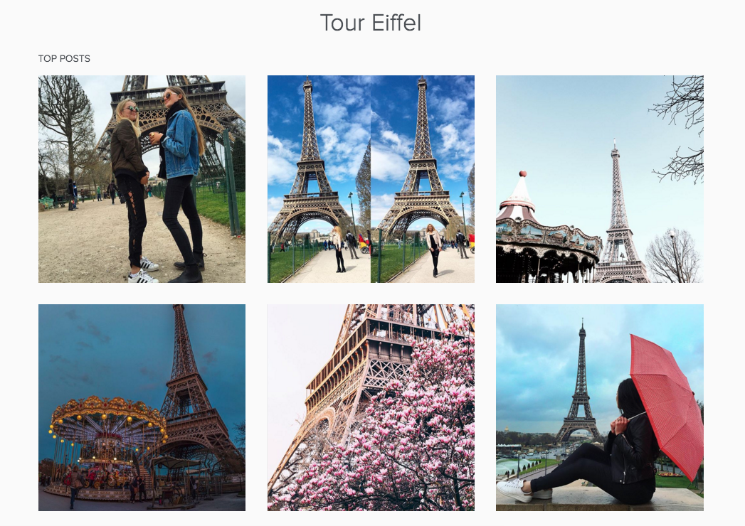 eiffel towerinstagram example