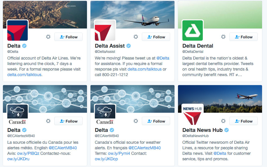 delta twitter accounts