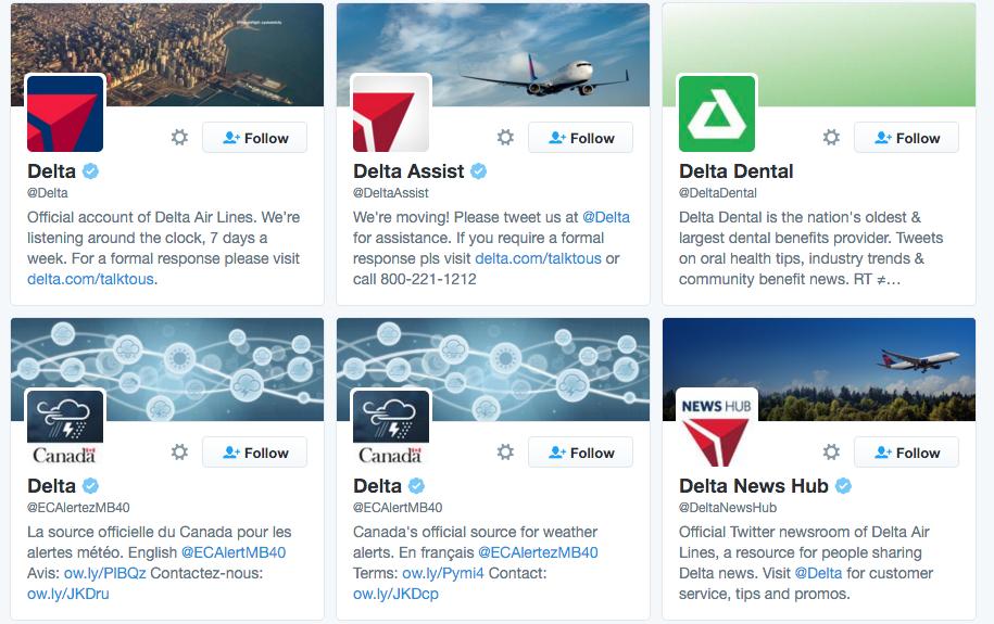 delta twitter accounts