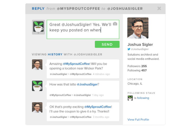 sprout social crm example