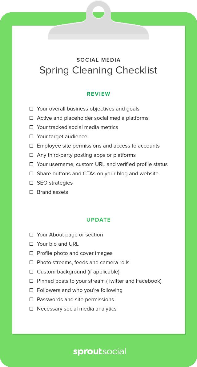social media clean up checklist