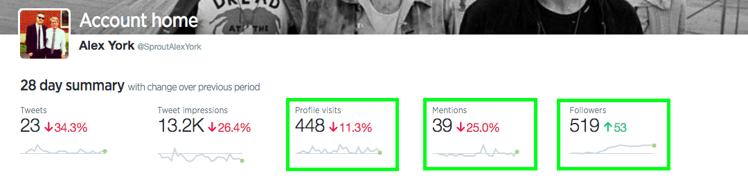 alex twitter analytics