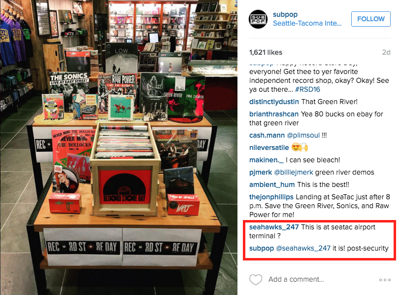 sub pop instagram example
