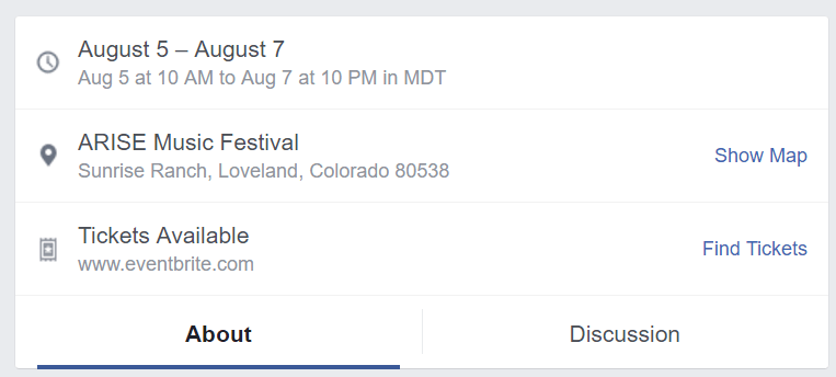 Facebook Events Date