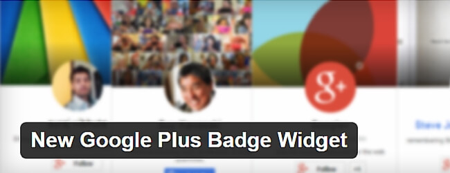 New Google Plus Badge Widget