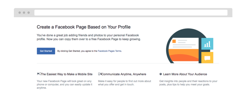 create a facebook page example