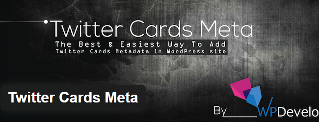 Twitter Cards Meta WordPress Plugin