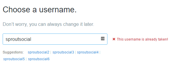 Twitter Handle Suggestions
