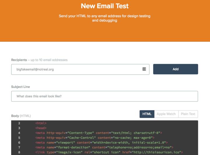 putsmail screenshot example