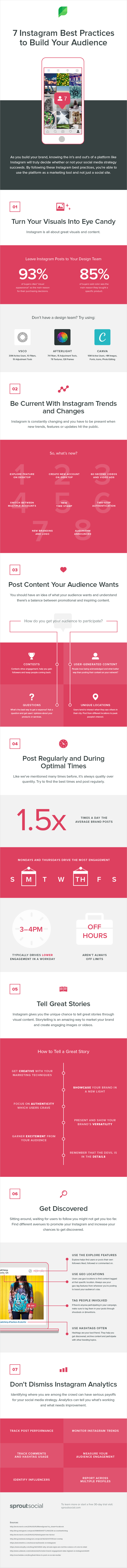 instagram best practices infographic
