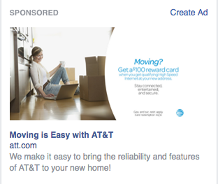 Facebook Ad AT&T