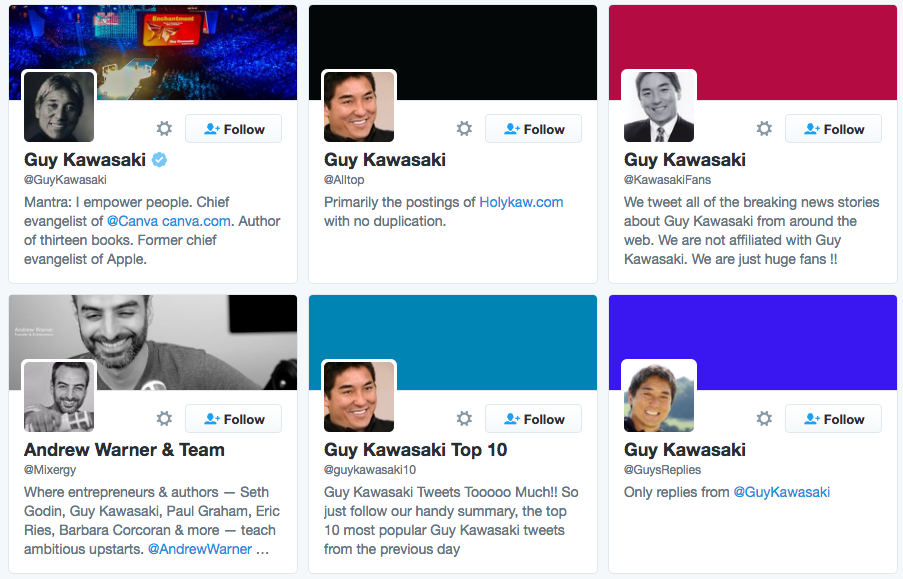 Guy Kawasaki twitter example