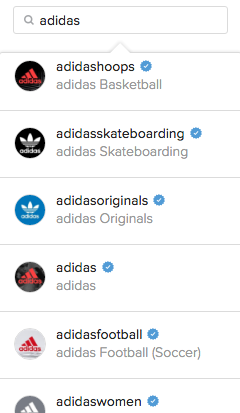 adidas instagram example
