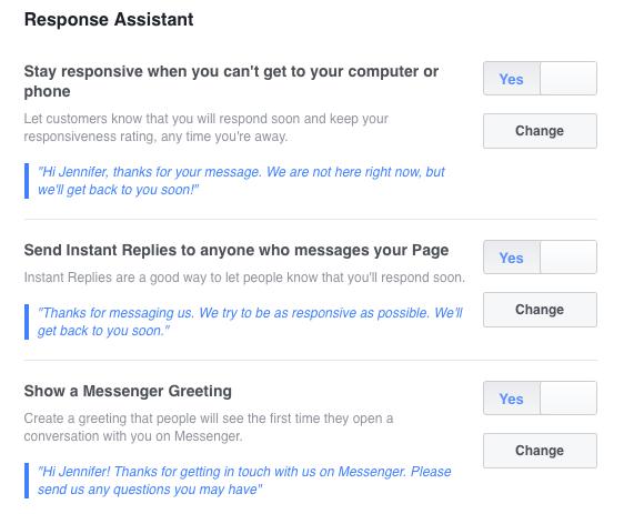 Facebook Response Assistant