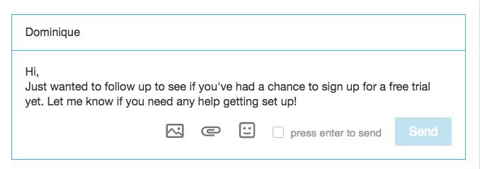 LinkedIn Follow Up Message