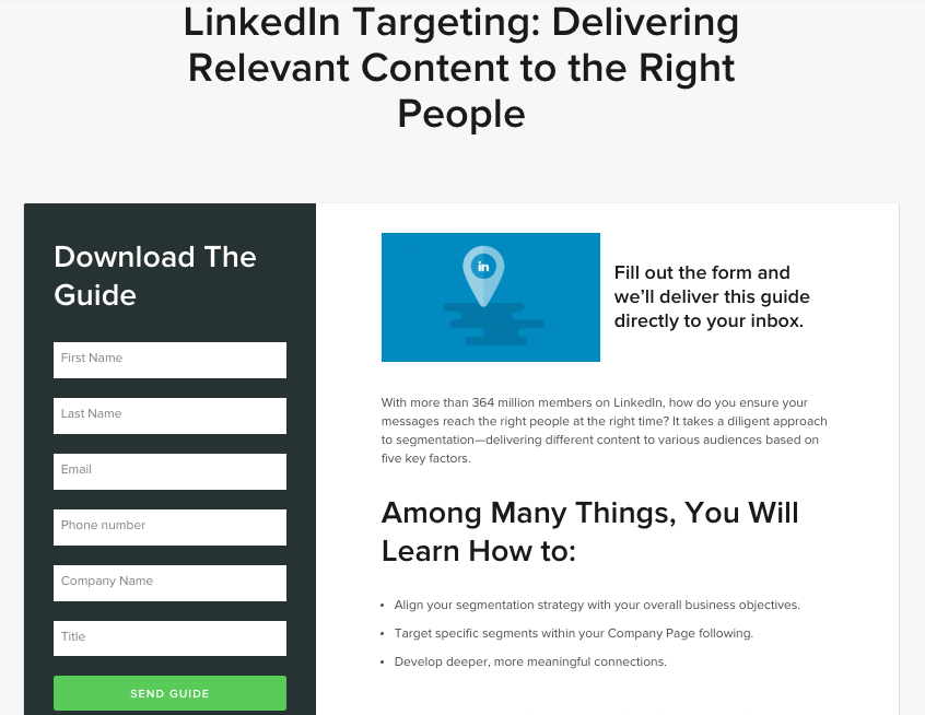LinkedIn Targeting Guide LP
