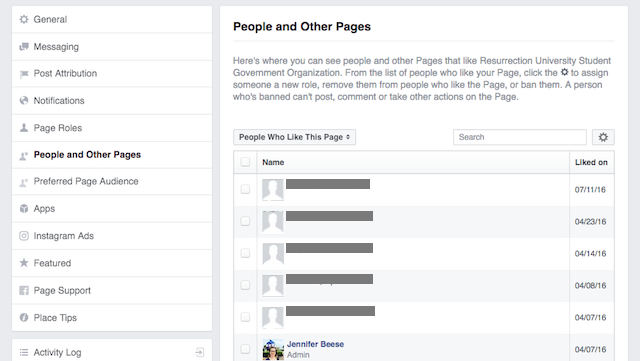 People and Other Pages