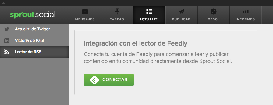 feedly en sprout social
